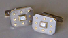 diamond and white gold cufflinks